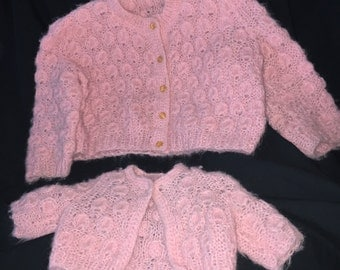 Vintage Girl and Matching Doll Sweater