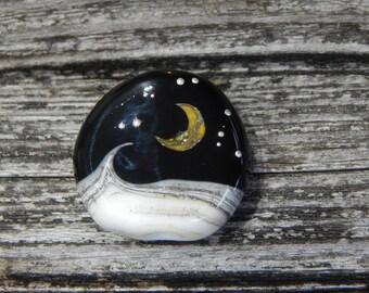 Moon Shine  Sea, Simply Lampwork by Nancy Gant, SRA G55