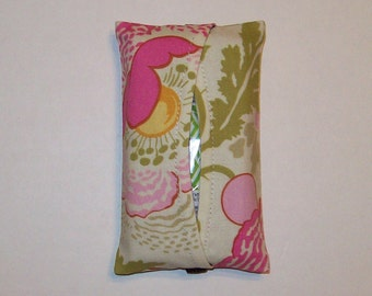 Auto Visor Tissue Cozy - Stylish Tissue Holder For Your Car - Amy Butler - Fresh Poppies