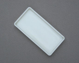 Vintage Milk Glass Dental Instrument Tray American Cabinet Co Beading Tray Drawer Organizer Soap Dish Industrial Chic