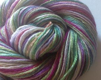 Handspun merino silk 3 ply yarn 3 ozs  306 yards sport/sock weight merino silk