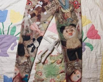 Gloomth Creepy Vintage Toy Print Leggings Sizes XS-5XL