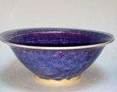Purple Blue & Magenta Wheel Thrown Pottery Bowls