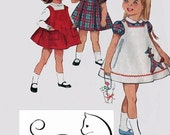 ON SALE 1960s Toddlers Dress & Jumper  Simplicity 5165 Vintage 50s Childrens Sewing Pattern Size 3