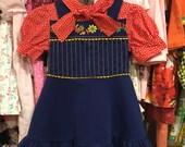 70s Floral Dress 3/4T