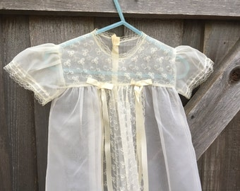1940s Christening Gown