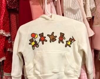 80s Teddy Bear Sweatshirt 12/18 Months