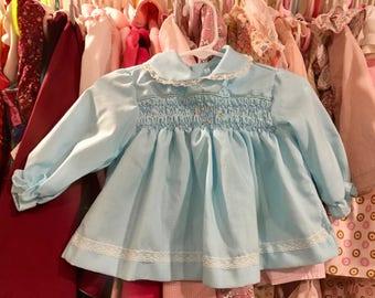 Vintage Smocked Dress 6/9 Months