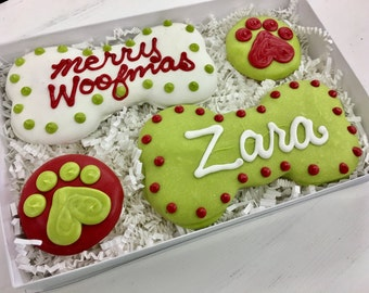 Personalized Christmas Dog Treat Gift Pack