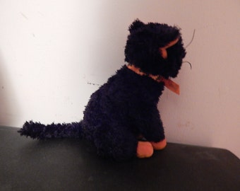 Vintage Retired Fraidy Cat - Excellent Black & Orange Cat