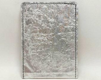 Textured Sewn Metal Wallet - RFID Blocking Wallet