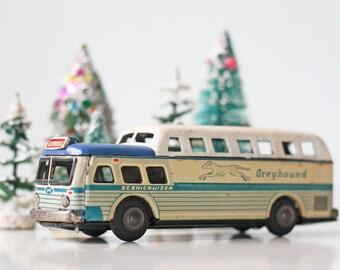 Vintage Greyhound Toy Bus, Sceniccruiser, SSS Japan