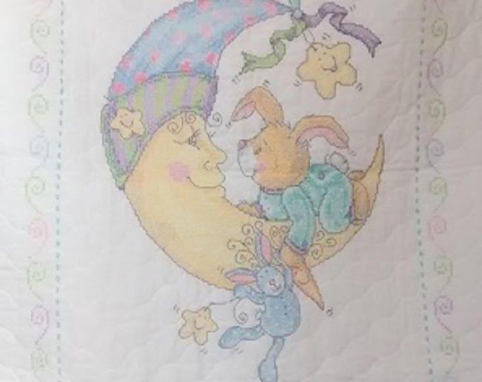 Moon Bunny Crib Cover