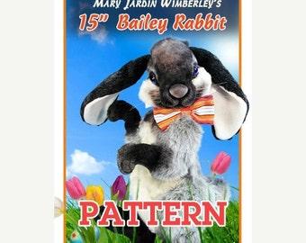 ON SALE Bunny Sewing Pattern, Stuffed Animal Pattern, PDF Rabbit Pattern, Plush Animal Pattern, Rabbit Stuffy, Easter Rabbit Pdf, Teddy Bear