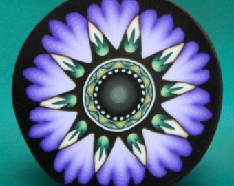 MEDIUM Purple Polymer Clay Flower Cane -'Oma's Garden' series (35bb)