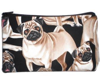 Pug Makeup Bag Zipper Pouch Gadget Bag Clutch