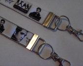 """Elvis Presley Print 6"""" Wrist Loop Key Fob"""