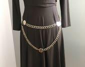 SALE! 80's Silver Chain Belt