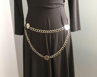 80's Silver Chain Belt