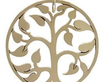 large golden bronze tree of life pendant, natural bronze tree of life pendant, tree of life pendant, bronze tree of life