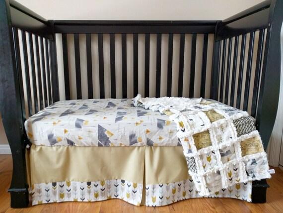 Mountain woodland crib bedding for baby boy mountain for Mountain crib bedding