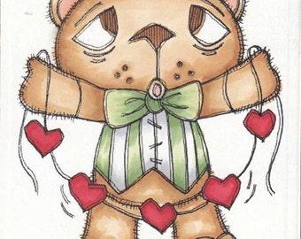 1308 Bearly a Love Crooner Digi Stamp