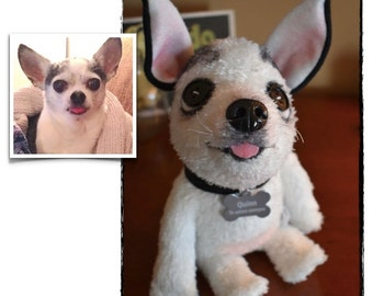 Custom Stuffed Animal - Pet Lover Gifts - Dog Gift - Cat Gift - Pet Replica - Plush Pet Portrait - MARCH 2017  Delivery