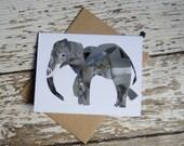 Elephant Card of Original Collage
