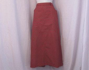 Plaid Pencil Skirt sz 16 - Susan Bristol Tartan Plaid Ladies Skirt - Pencil Skirt