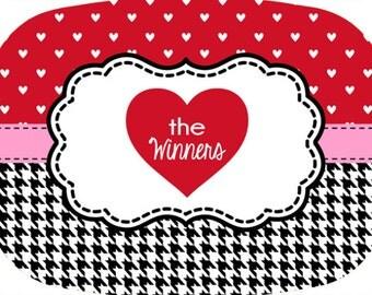 Valentine's Day Platter, Heart Platter,  Melamine Platter, Personalized Serving Tray, Custom Monogram, Teacher Gift, Wedding Gift