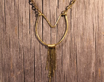 Chevron Horseshoe Spike Necklace