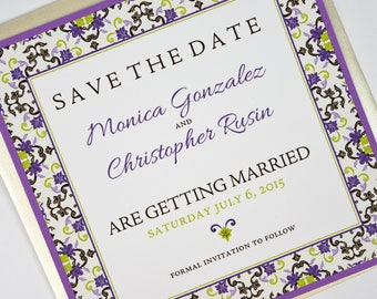 Mexican/Spanish Red/Black Tile Beach Destination Wedding Save the Date