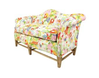MOVING SALE - Garden Party Mini Camelback Sofa