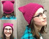 Pussy Hat - Hot Pink - FREE SHIPPING in US