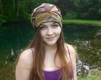Slouchy Beanie - Slouchy Hat - Patchwork Hat - Festival Hat - Hippie Hat -  Unisex Hat - Beanie -Organic Bamboo - Organic Hemp