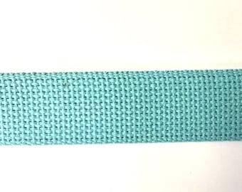 AQUA New Color Heavyweight Cotton Webbing for Key Fobs Purses