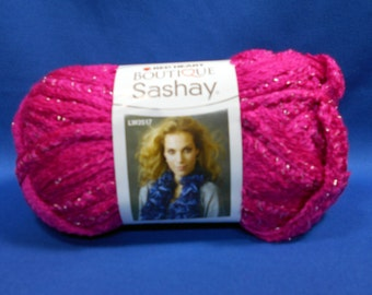 Red Heart Boutique Sashay yarn,  super bulky, solids, PINK