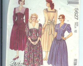 MaCalls  DRESS Misses  Sewing Pattern  5627  Size  Misses 12   Fashion Basics
