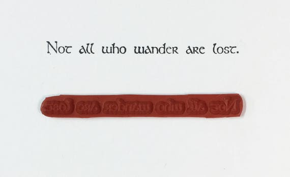 Not All Who Wander Are Lost - Altered Attic Rubber Stamp - Whimsical Inspirational Quote Greeting - Art Craft Scrapbook Card Collage ATC