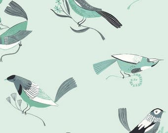Dear Stella Perch Mint Fabric