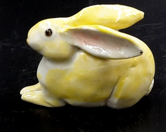 Little Porcelain Rabbit - small bunny sculpture - original art