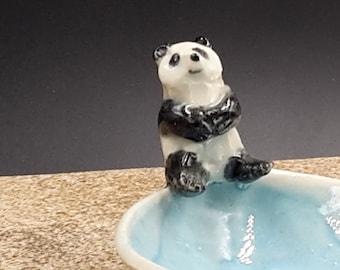 panda trinket bowl  porcelain