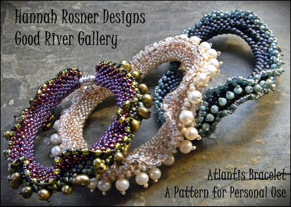 RECENTLY UPDATED!  Bead Tutorial Atlantis Beaded Bracelet peyote stitch pattern instructions