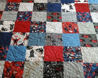 superhero queen size quilt