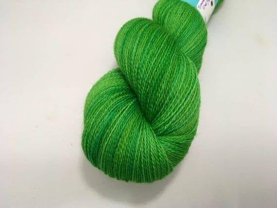 Merino Dreams - Summer's Vitality - Dyed to Order - Hand Dyed - Merino Wool Yarn - Lace Weight