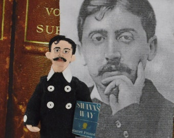 Marcel Proust Doll Miniature Classic Literature French Author Collectible Figure