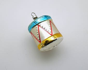 Vintage Christmas Ornament Glass Drum West Germany Christmas Decoration