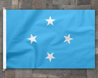 100% Cotton, Stitched Design, Flag of Micronesia, Made in USA