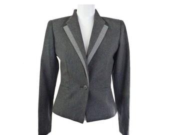 Vintage Sasson Jacket | Women's Double Lapel Cropped Career Blazer