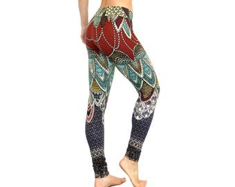 Printed art leggings, Workout Leggings, Swallows Yoga Pants, Yoga Leggings, Womens Leggings, Yoga Clothes, Print Tights